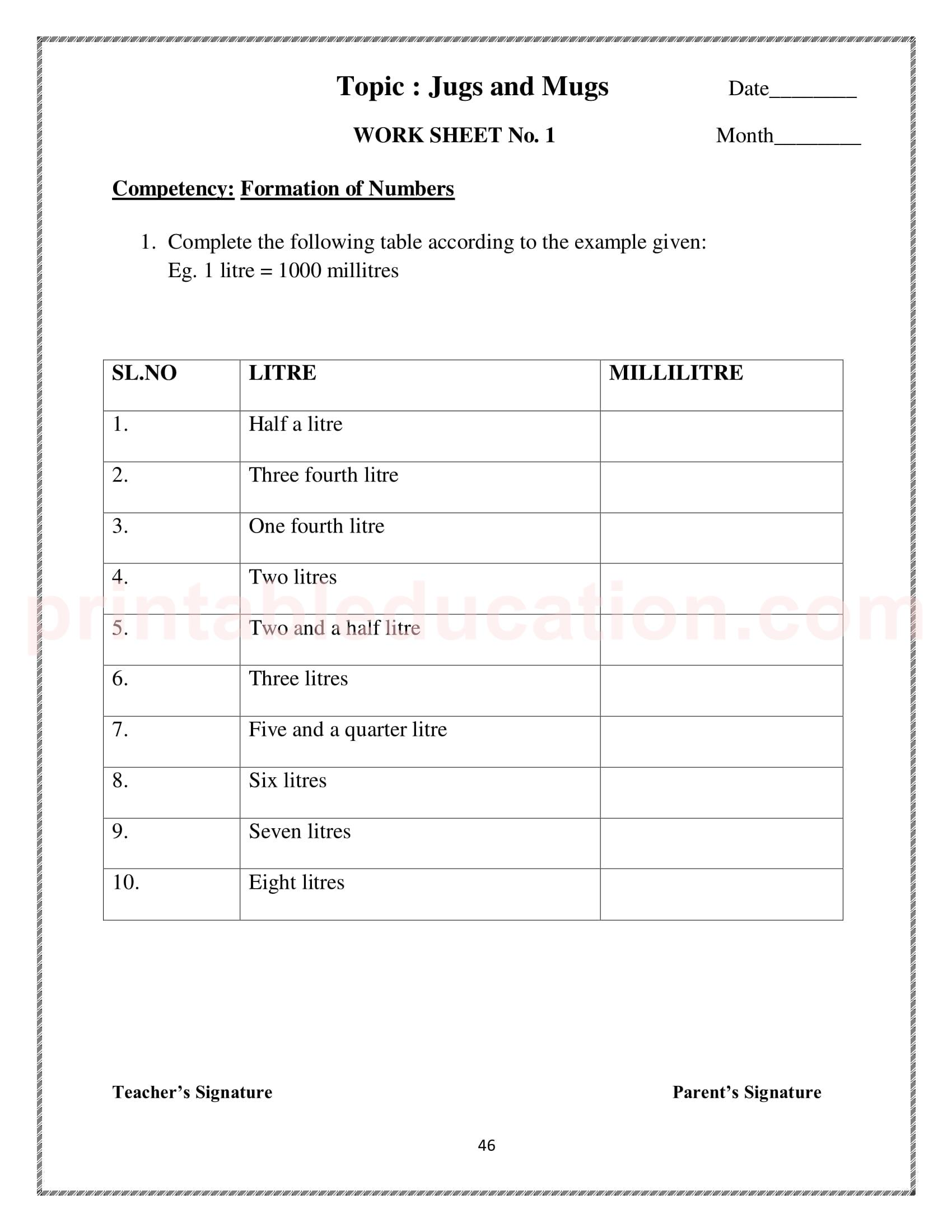 Measurement Worksheet Amp Games For Kids