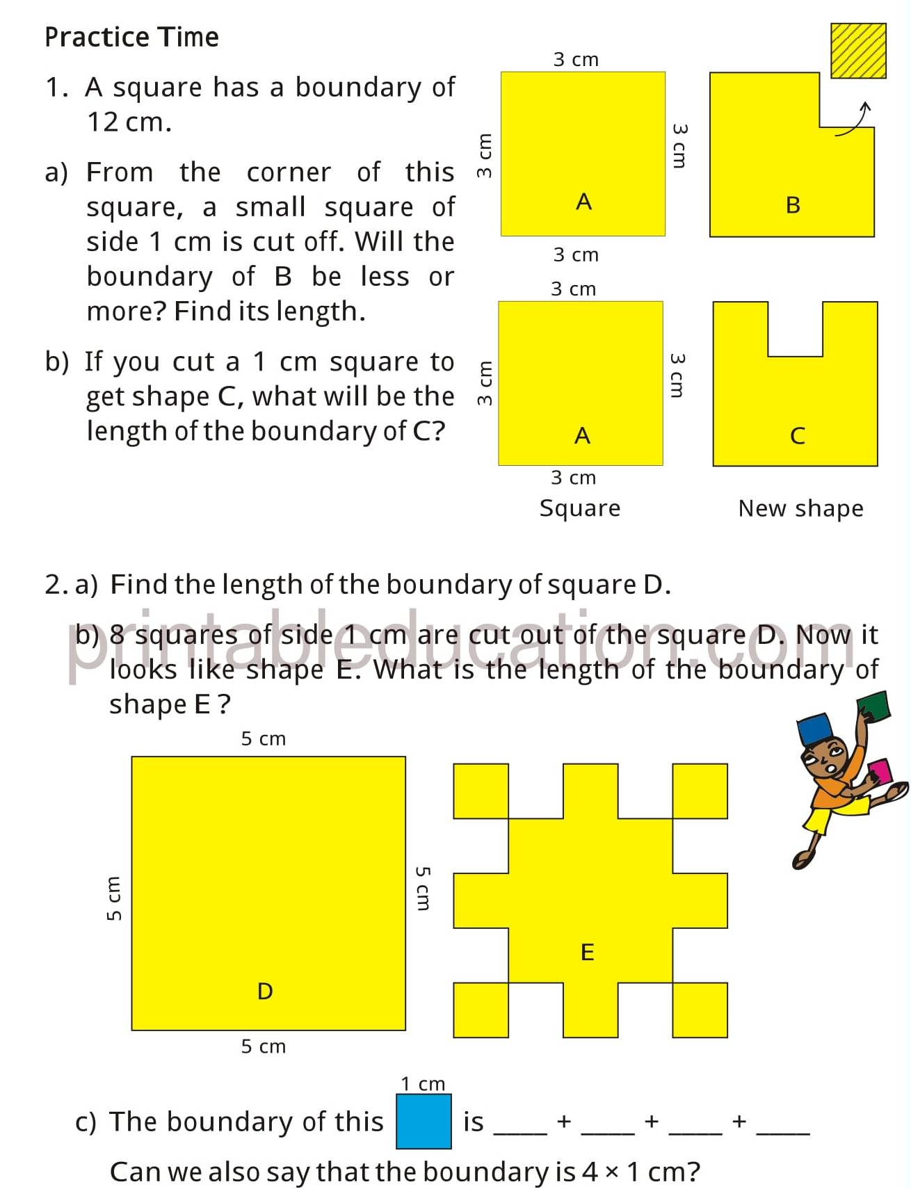 Grade Four Mathematics Activity Worksheets