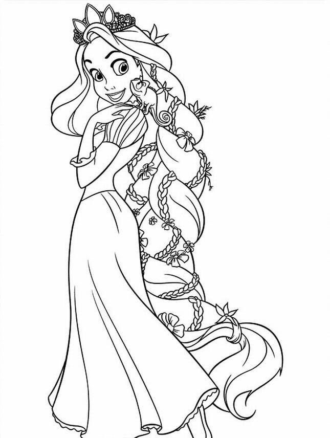 7 Best Images Of Tangled Coloring Pages Printable Tangled Coloring Pages Rapunzel Tangled Coloring Pages Printable And Disney Tangled Coloring Pages Printablee Com