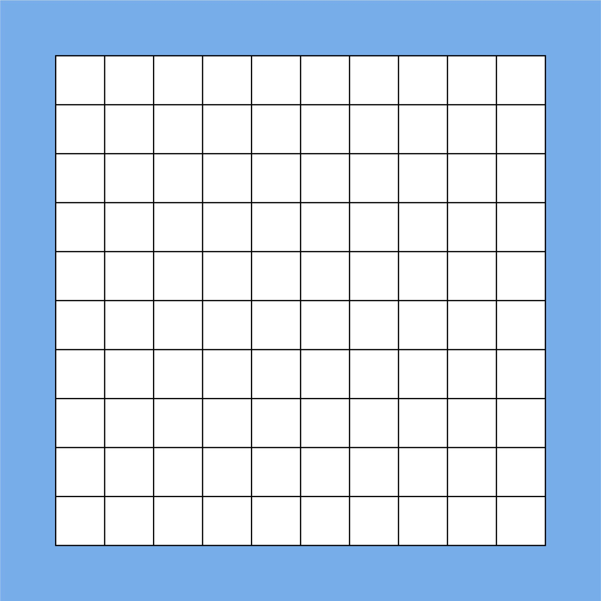 5 Best Blank Hundredths Grids Printable