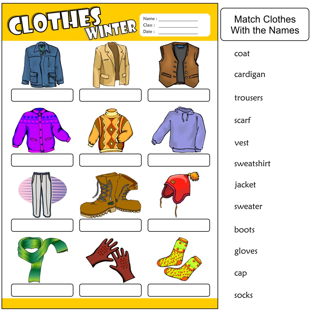 7 Best Clothing Printable Worksheets For Preschoolers