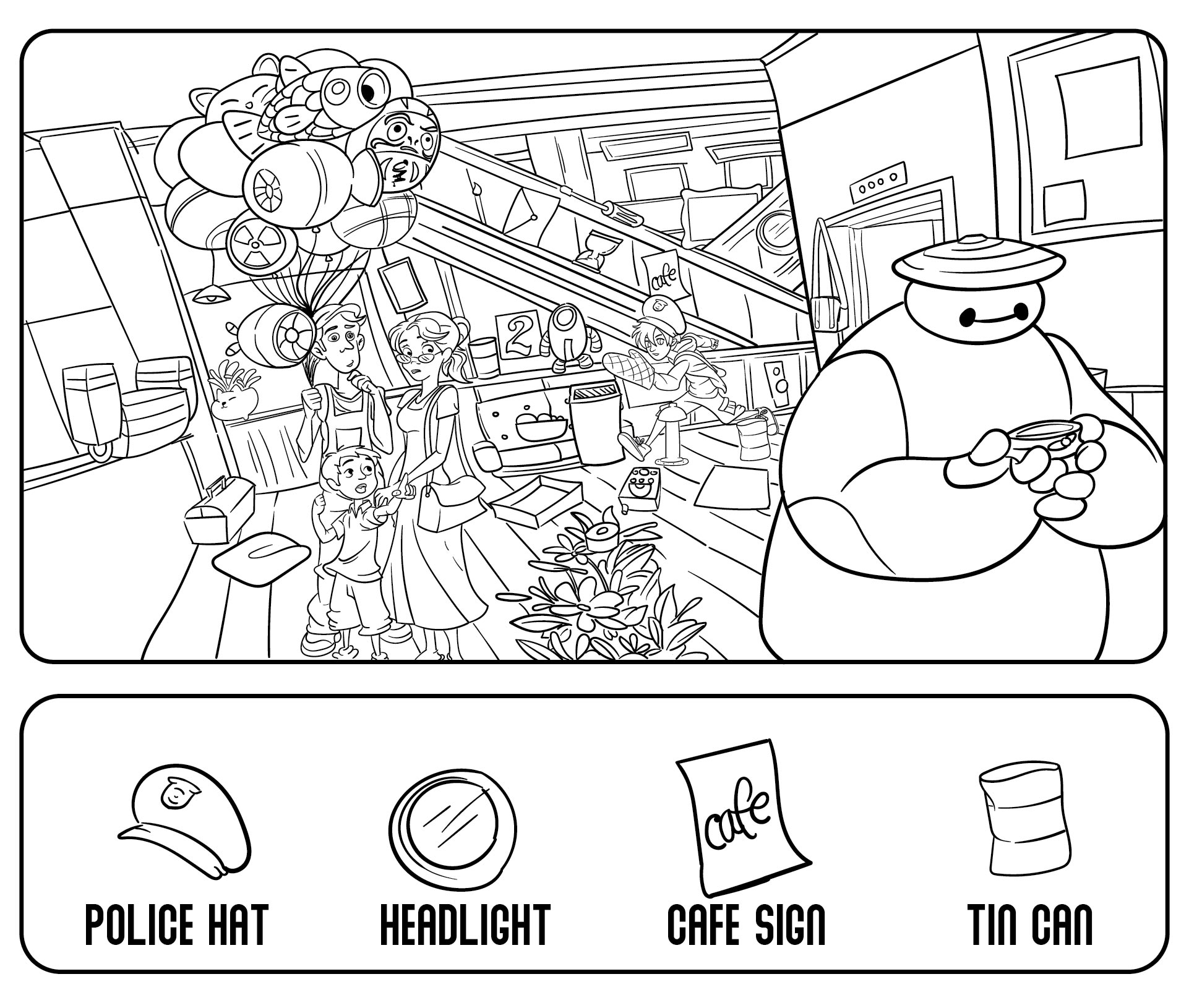 6 Best Images Of Easy Hidden Object Printables