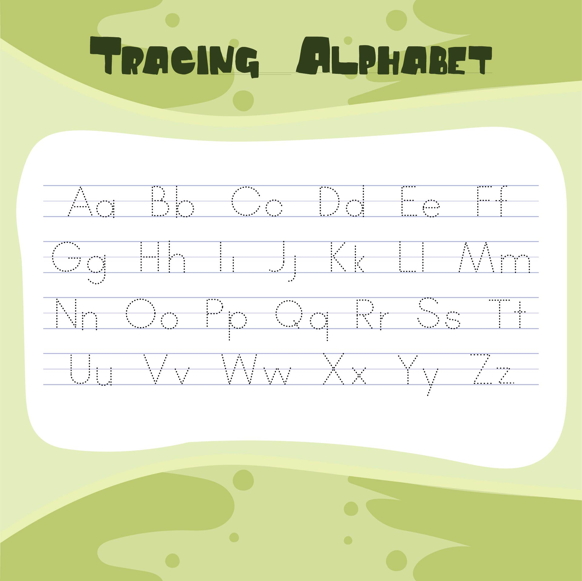 6 Best Free Abc Worksheets Preschool Printables