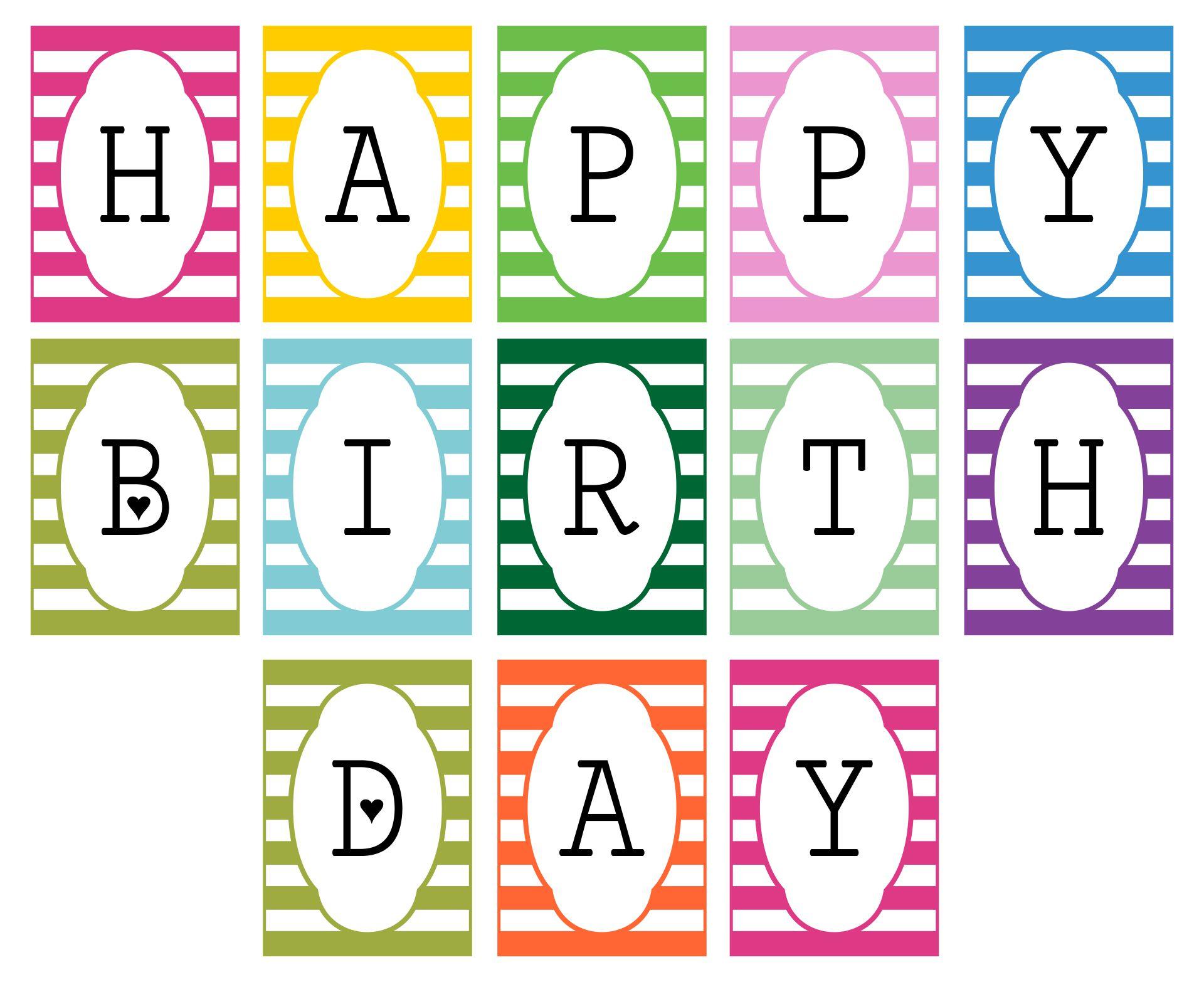 6 Best Diy Birthday Banner Printable Template Printablee Com