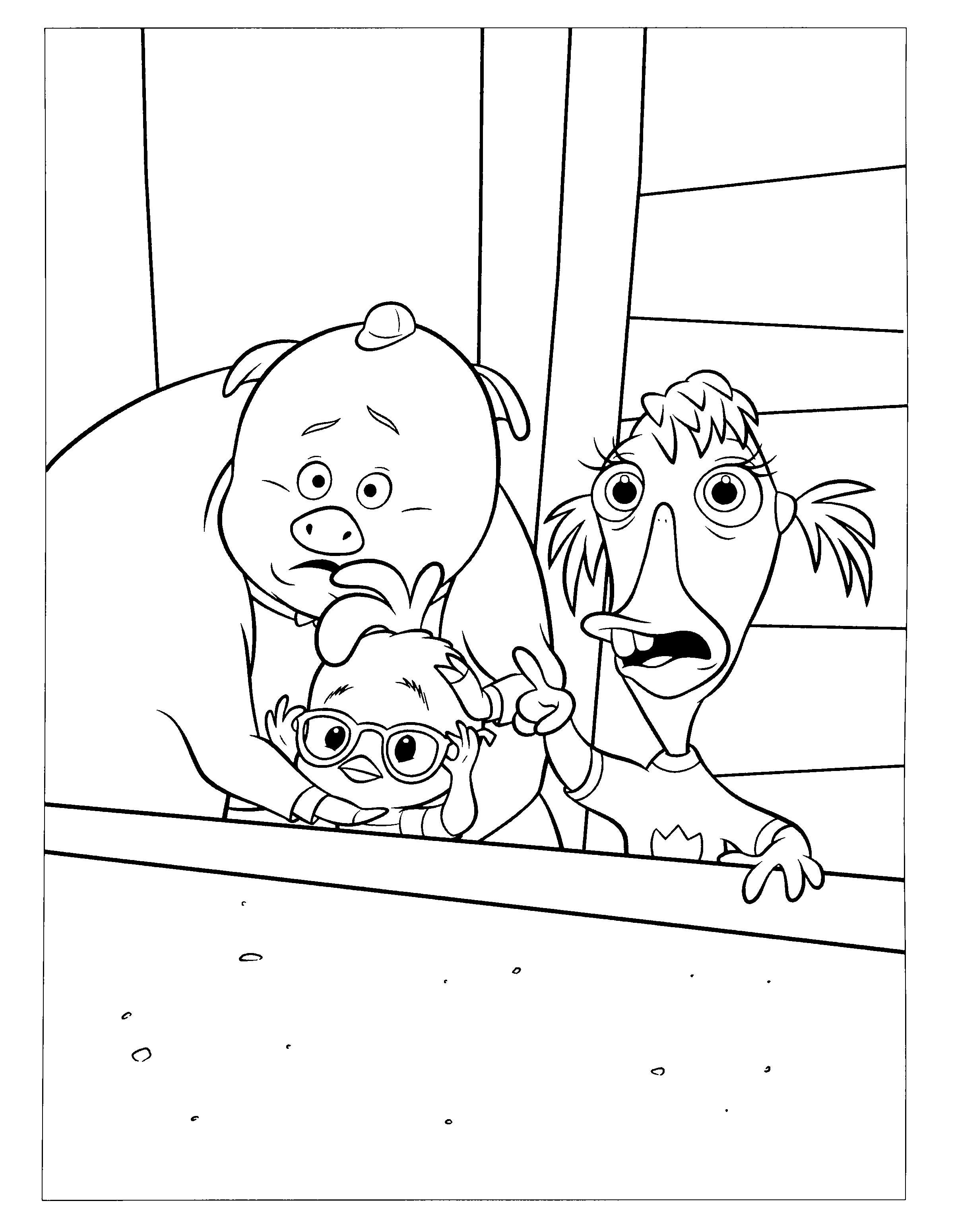 Coloring Page Chicken Little Animation Movies 33