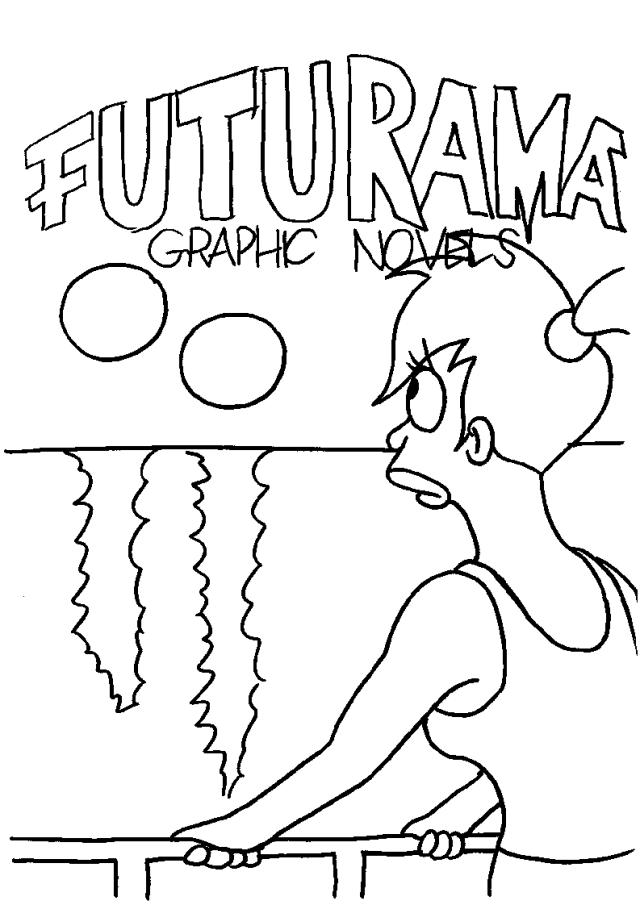 Drawing Futurama #17 (Cartoons) – Printable coloring pages