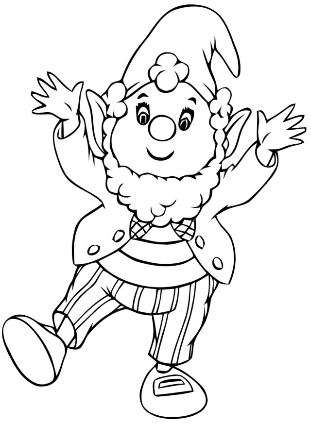 Noddy #25 (Cartoons) – Printable coloring pages