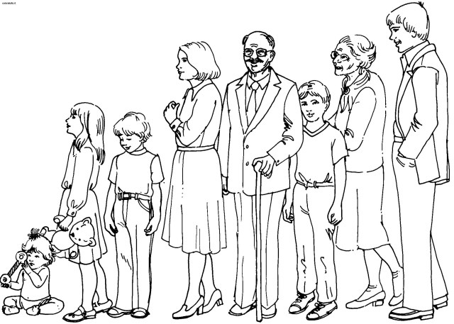 Drawing Family #27 (Characters) – Printable coloring pages
