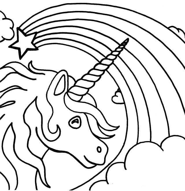 Unicorn #14 (Characters) – Printable coloring pages