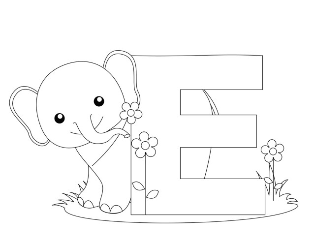 Alphabet #7 (Educational) – Printable coloring pages