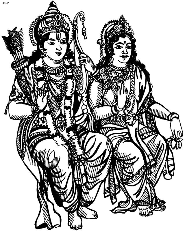 Hindu Mythology #26 (Gods and Goddesses) – Printable coloring