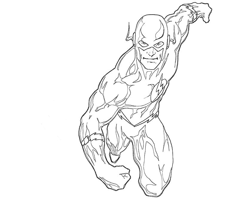 Flash Superheroes Printable Coloring Pages