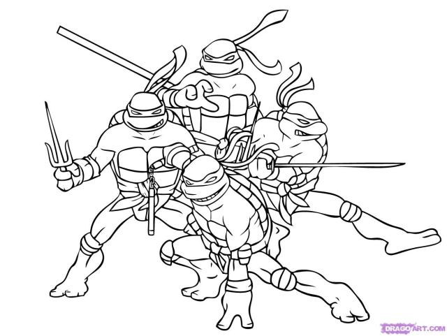 Ninja Turtles #27 (Superheroes) – Printable coloring pages