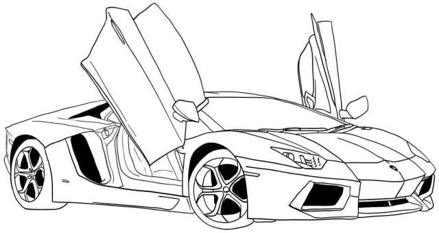 Drawings Sports car / Tuning (Transportation) – Printable coloring