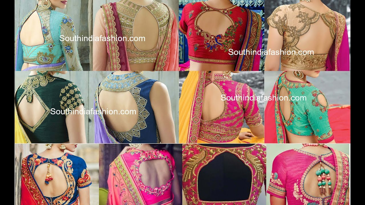 Banarasi Saree Blouse Back Designs 2018 Photos 12 Beautiful Banarasi Saree Blouse Design Keep Me Stylish Discover The Latest Best Selling Shop Women S Shirts High Quality Blouses