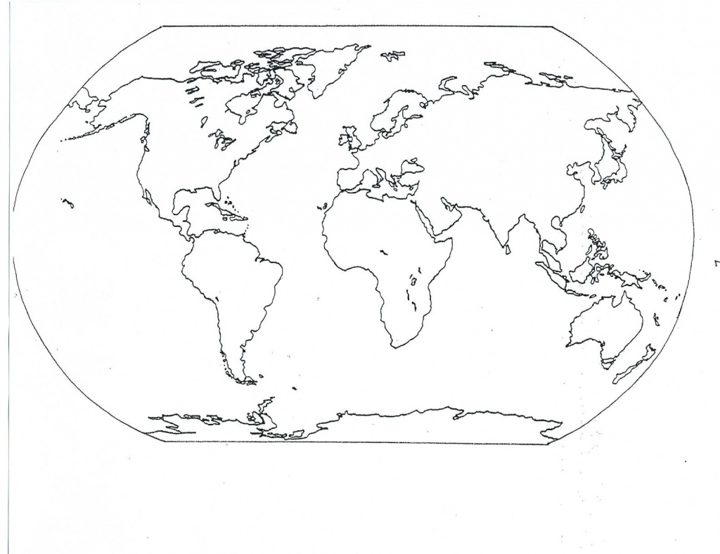 World Map Oceans And Continents Printable