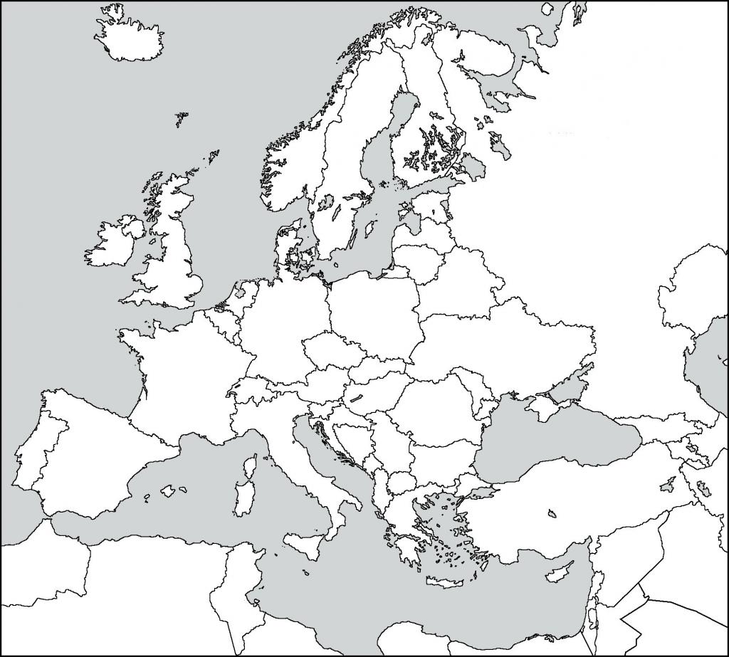 Europe Blank Map Worksheet