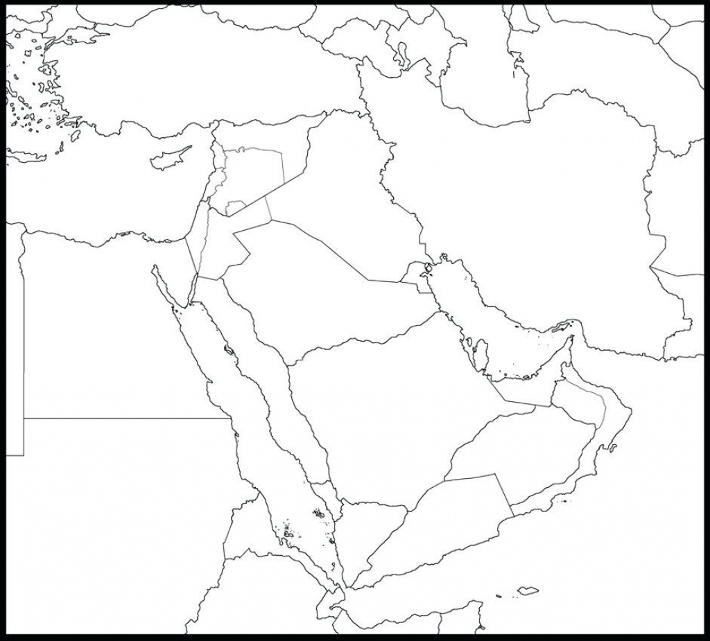 Outline Map Of Asia And Middle East Free Printable