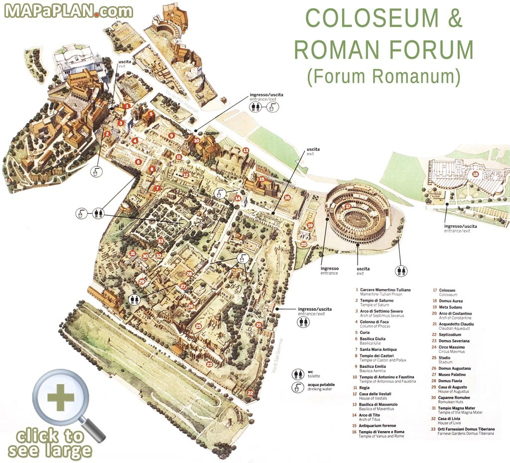 Printable Map Of Ancient Rome