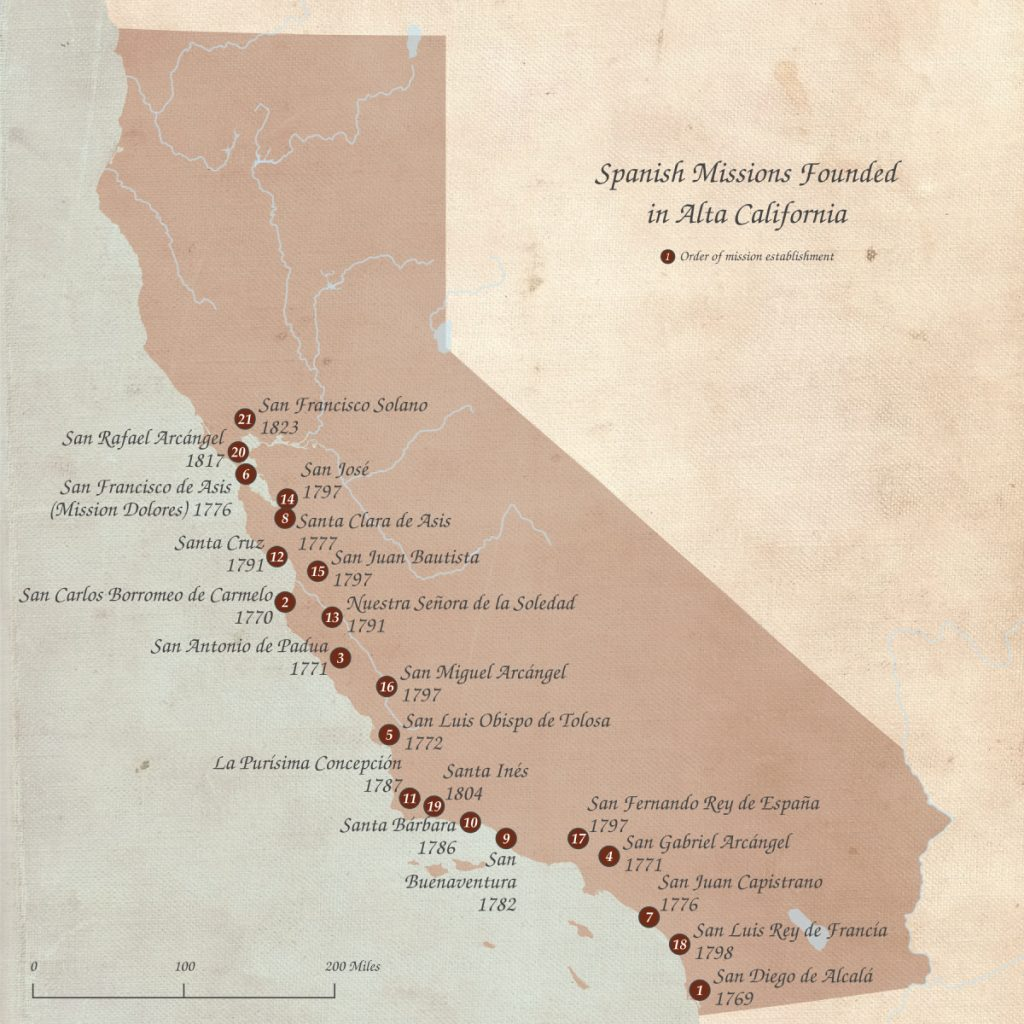 List Of Spanish Missions In California