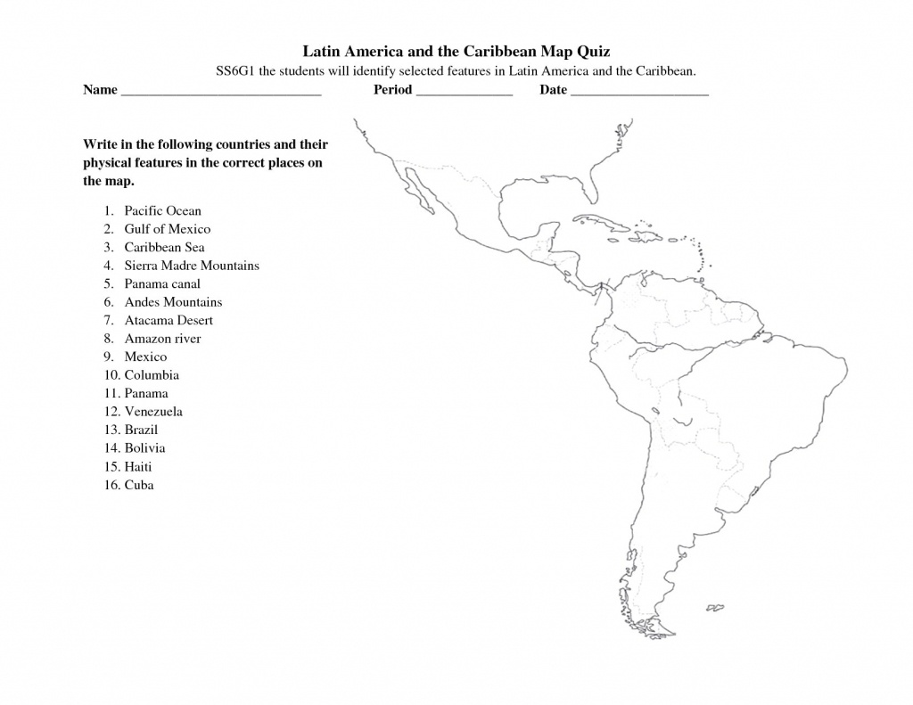 Free Printable Map Of South America