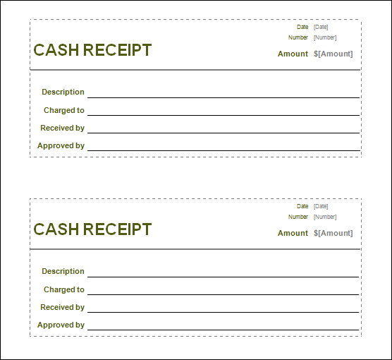 Doc500700 Blank Receipt Template Microsoft Word Free Blank – Printable Cash Receipt Template