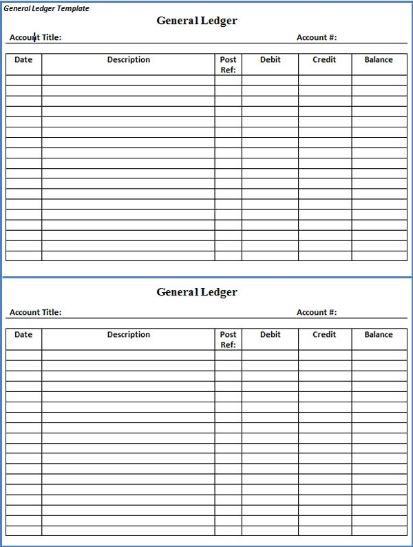 Account Ledger Template simple sales ledger in excel iv the happy – General Ledger Format