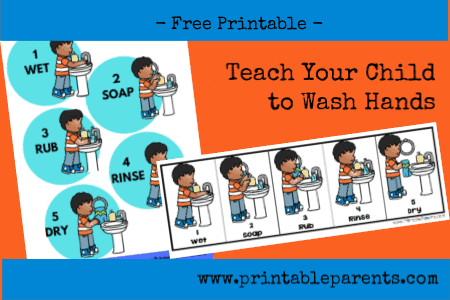 picture about Free Printable Hand Washing Posters named Practice Your Boy or girl in the direction of Clean Palms - free of charge printable - Printable