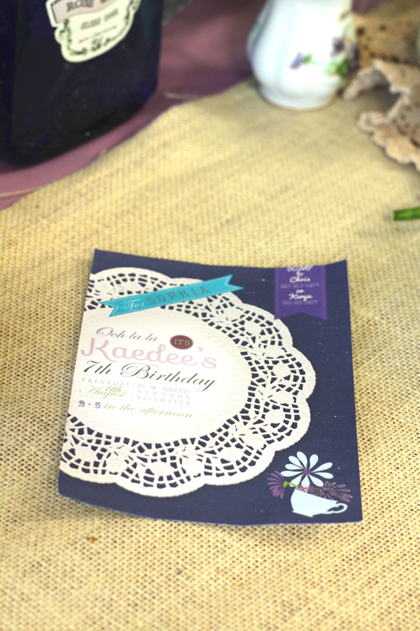 This is an image of the Shabby Chic party invitation.