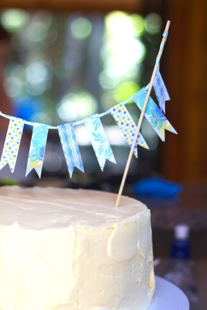 This is an image of cake bunting.