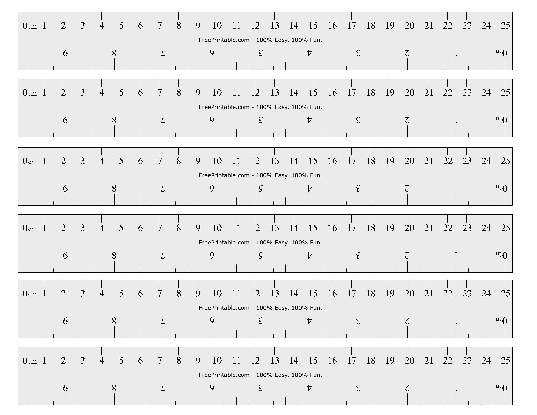 Printable Ruler With All Measurements Marked Safe