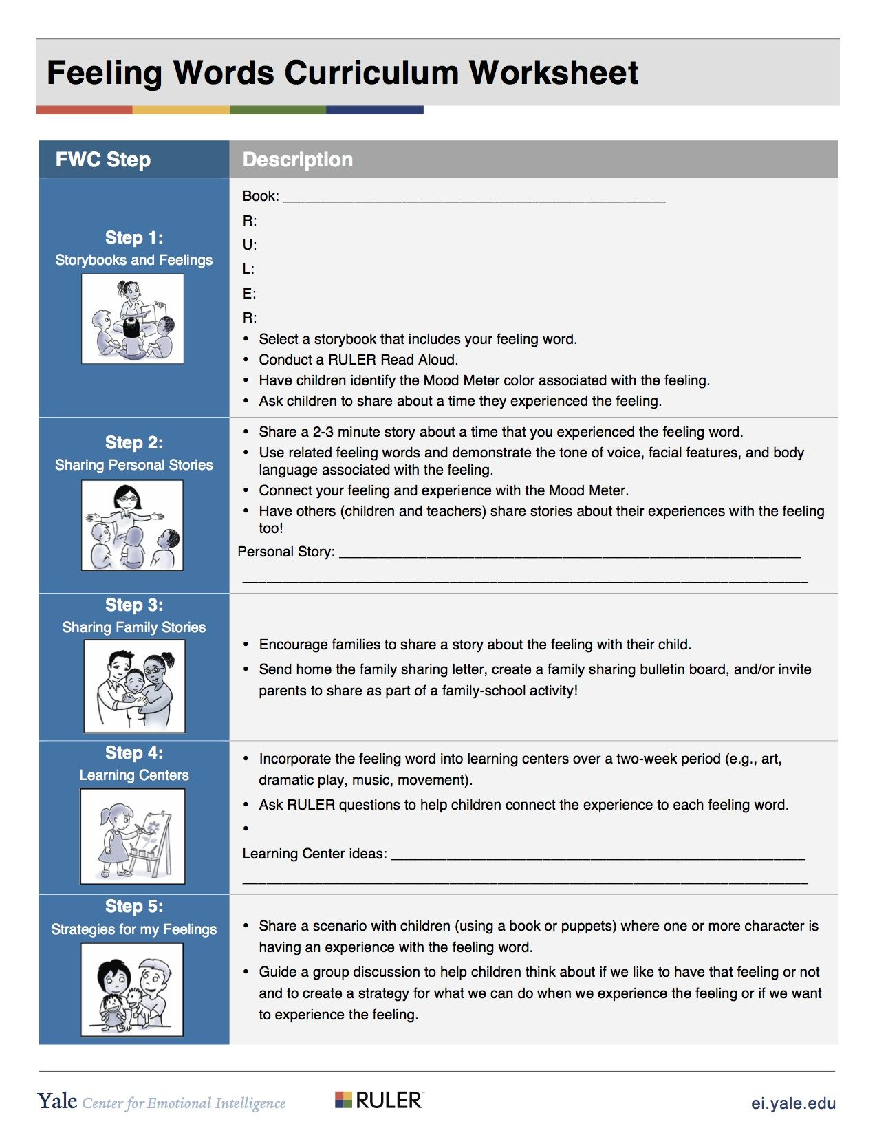 Fwc Steps Worksheet Preschool