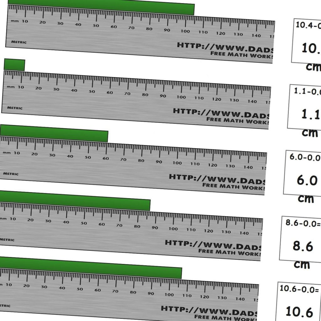 Worksheets For Measuring Length On A Metric Ruler From