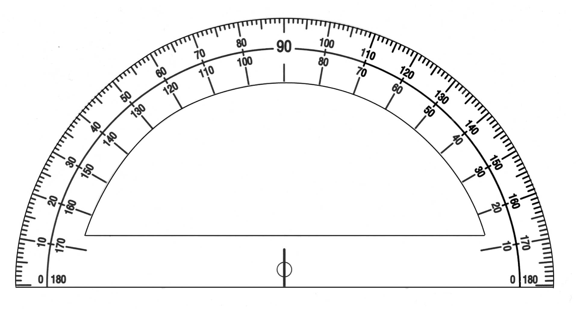 Printable Protractors With Ruler Template