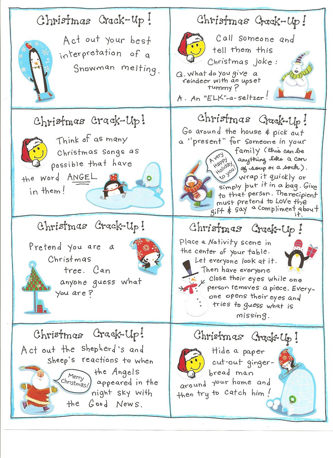 Christmas Activities For Middle School Printable