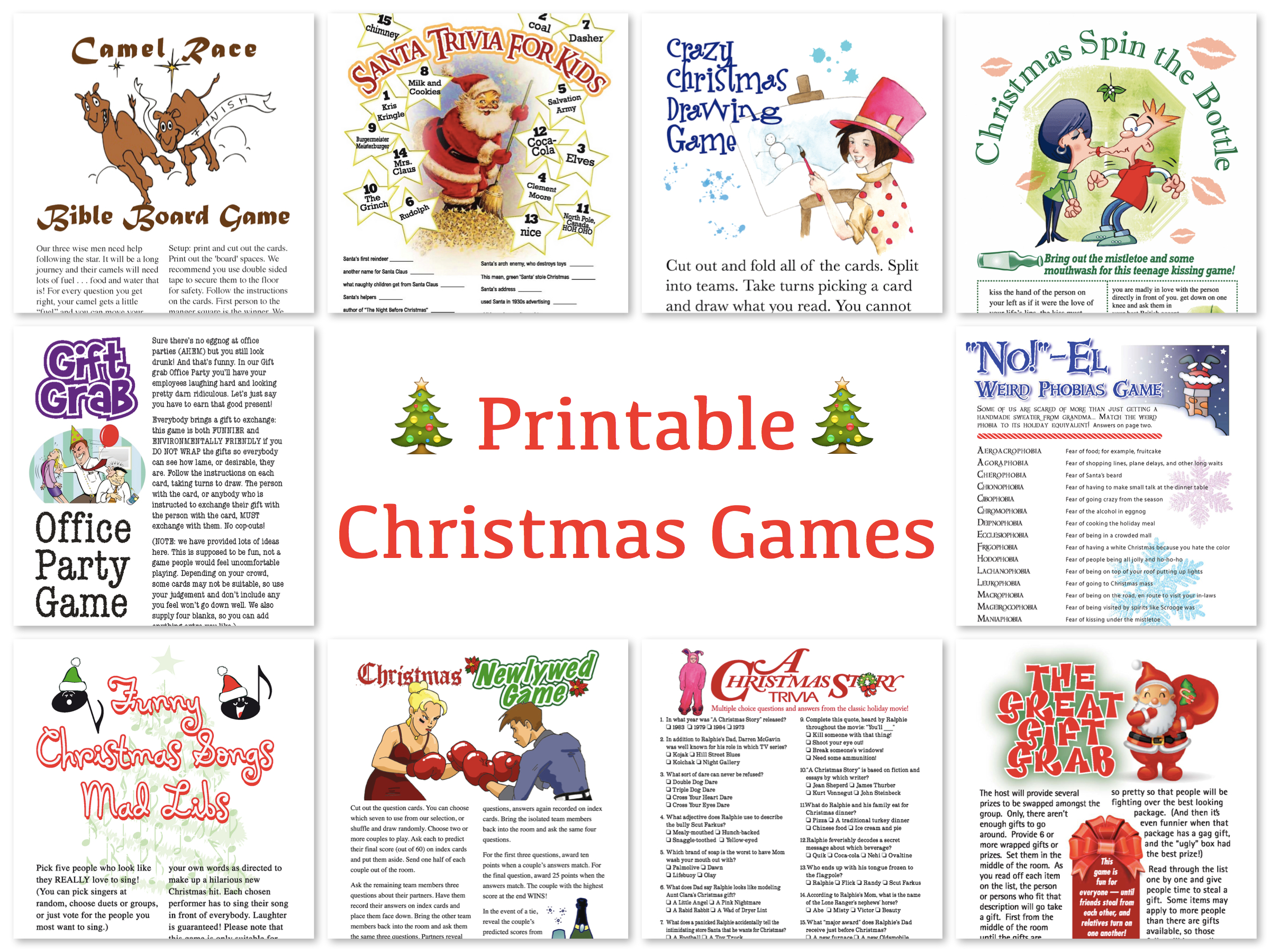 Worksheet Printable Christmas Game For Adults