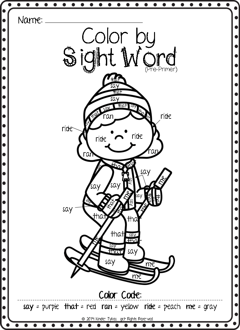 sight word printables for christmas - christmas printables