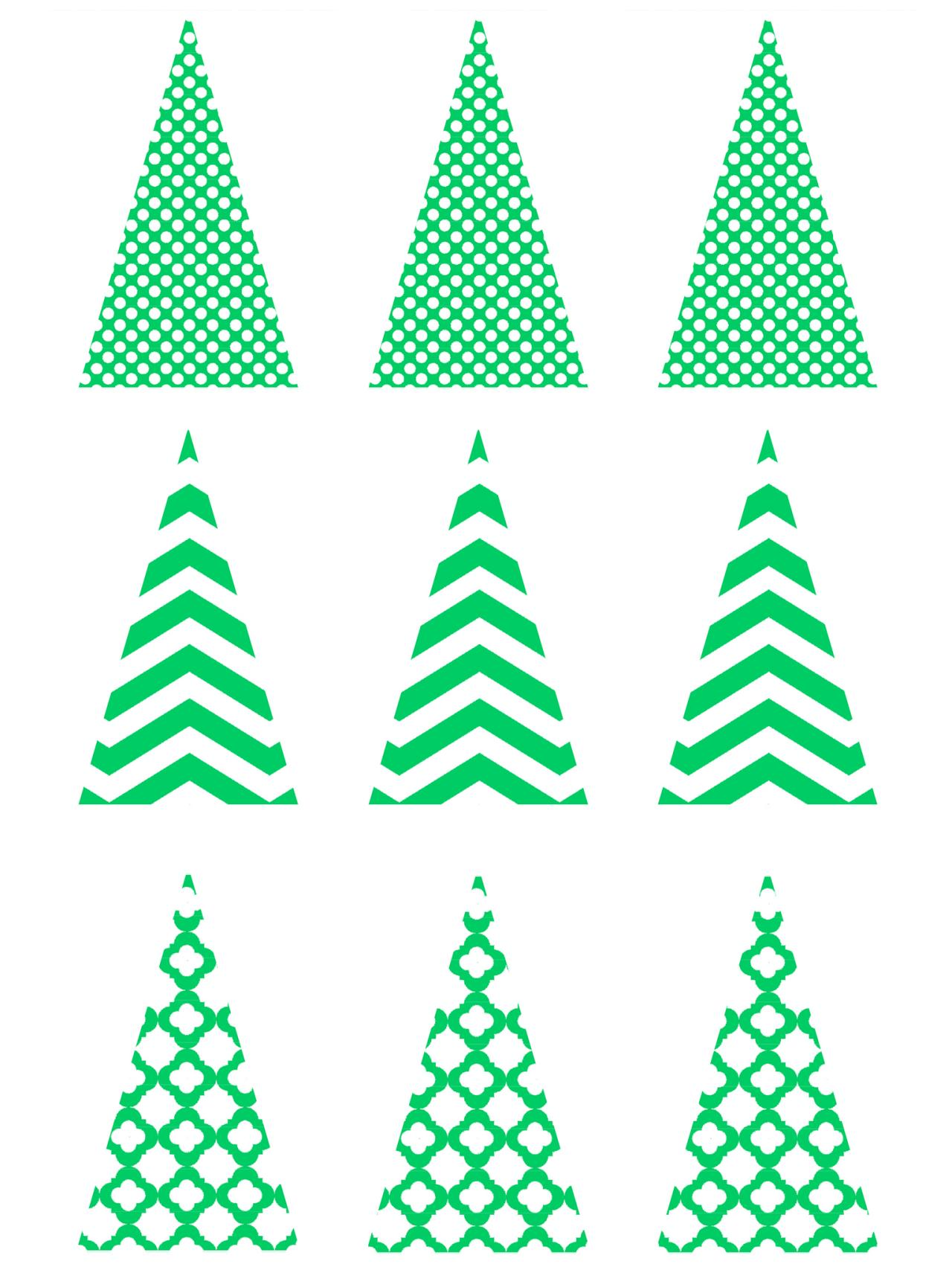 Xmas Trees Worksheet