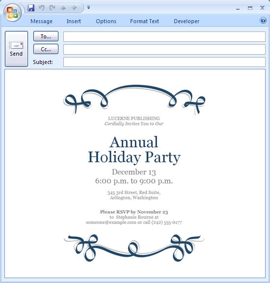 Free Invitation Email