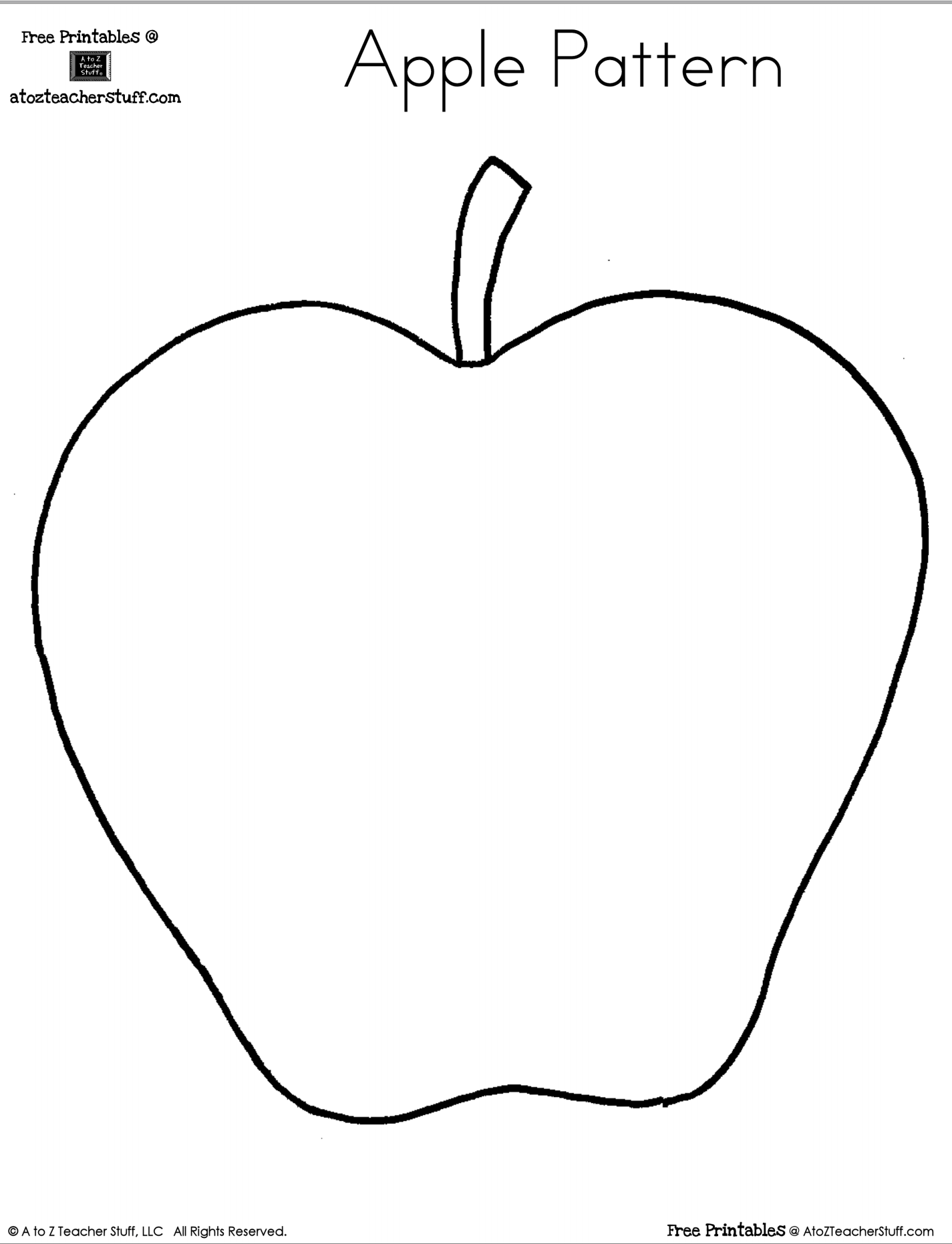 Printable Apple Pattern