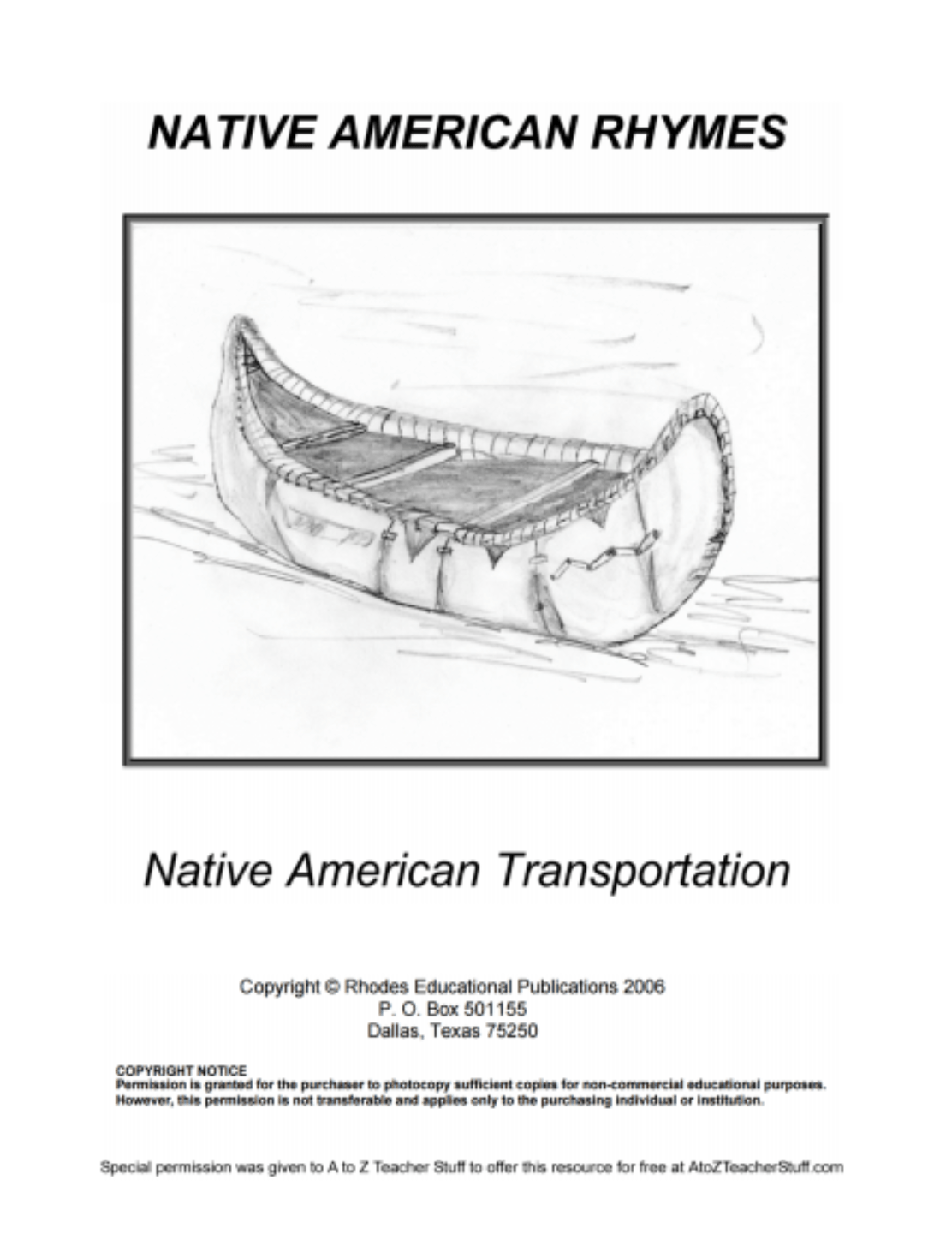 Native American Rhymes Printable Resources