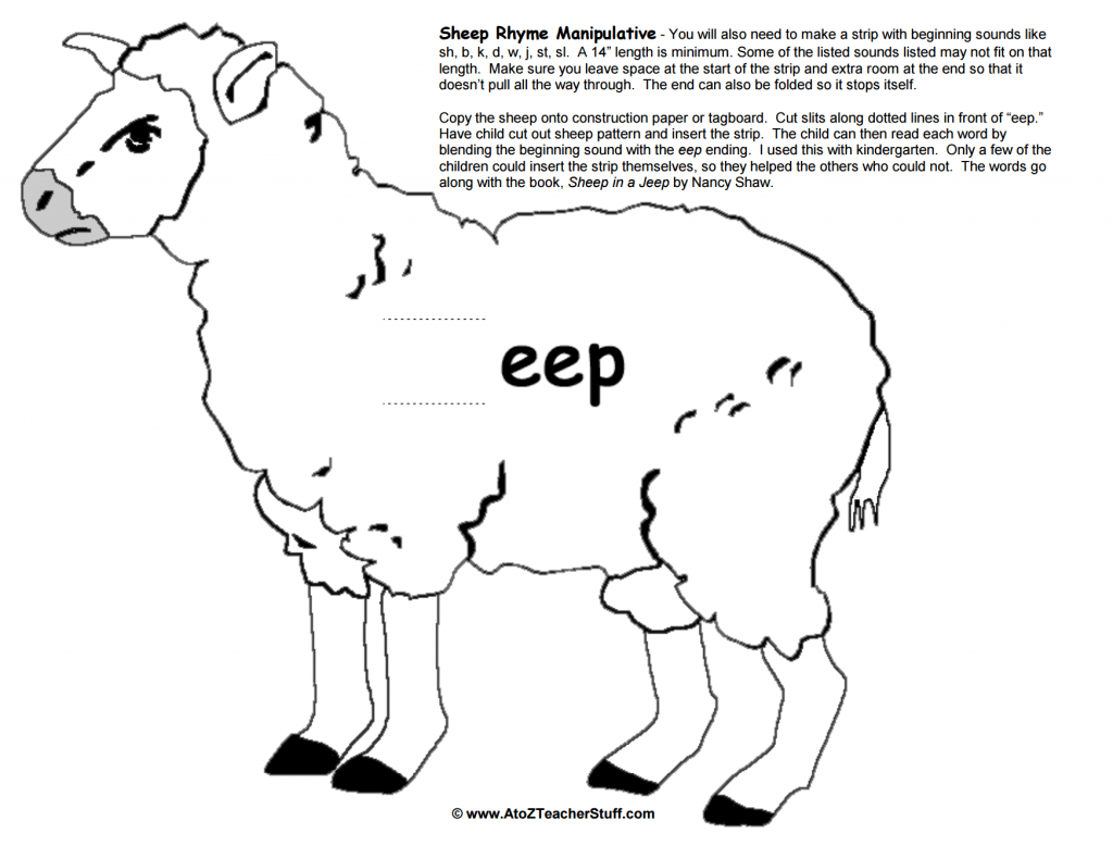 Sheep Rhyme Printable