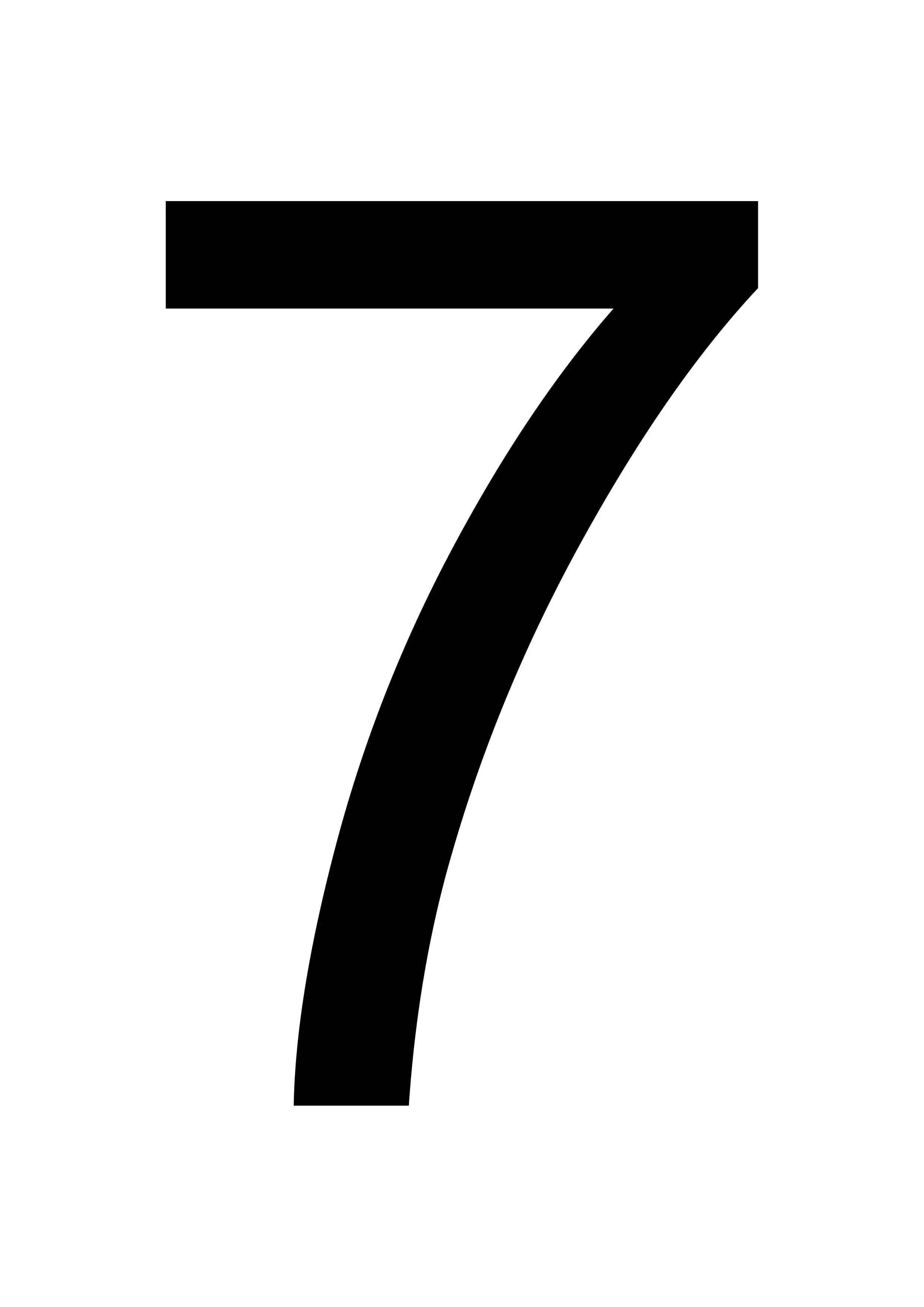 Printable 7 Large Number Template Free Printables