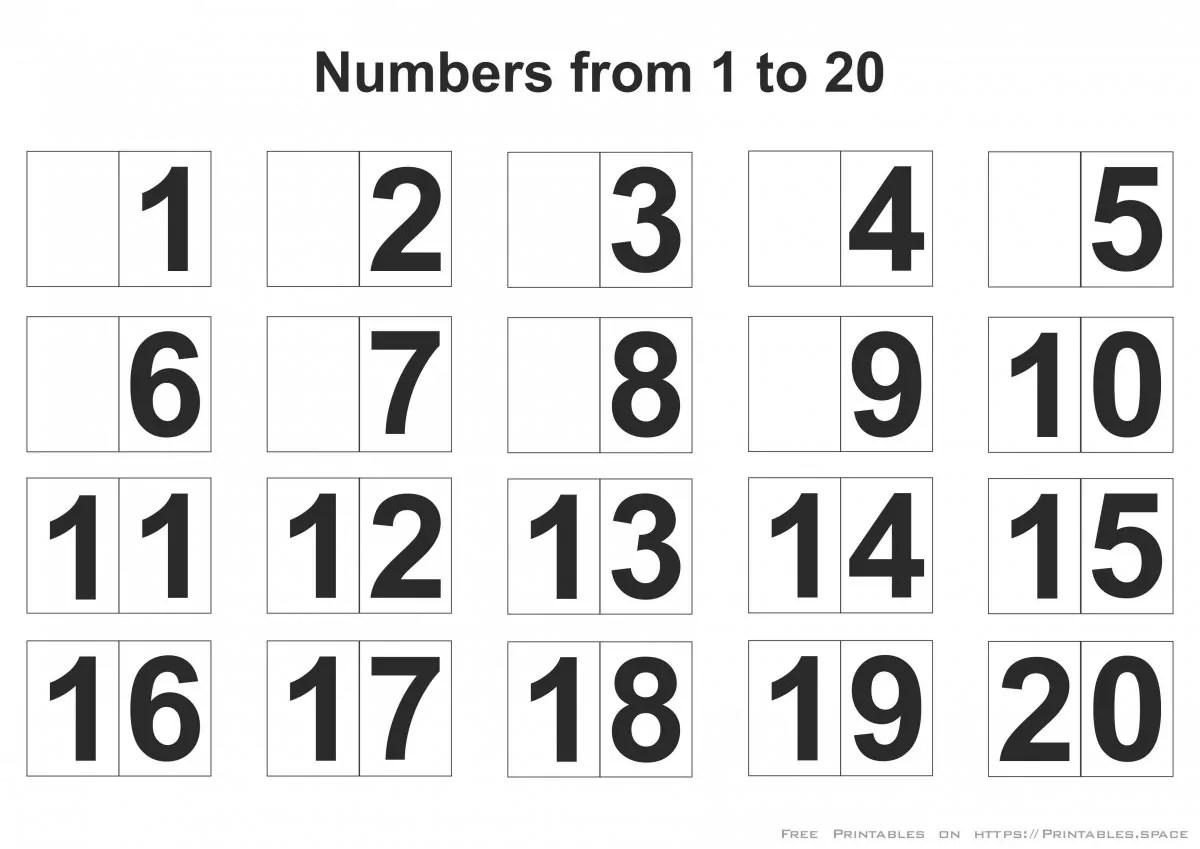 Printable Numbers 1 20 Free Printables