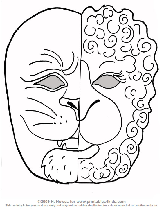 coloring lamb lion page  free coloring pages
