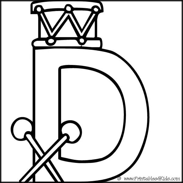 letter d coloring sheet alphabet coloring page letter