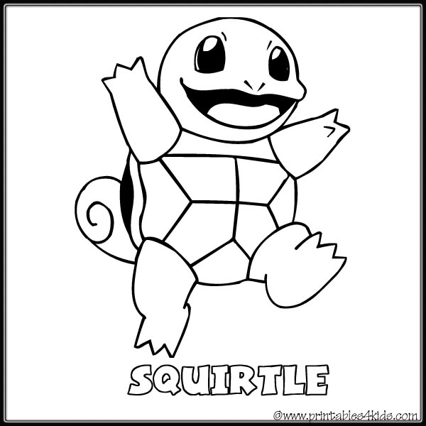 pokemon squirtle coloring pages wartortle squirtle coloring 4ku7a