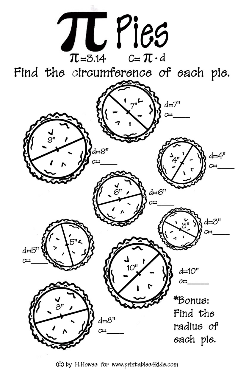 worksheet Perimeter Of Circle Worksheet area and circumference of a circle worksheets free pi pies m th w ksheet pr t bles kids d se rch