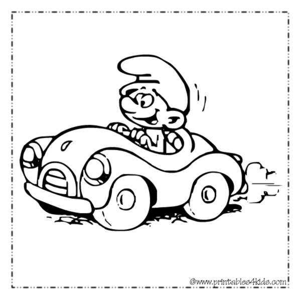 smurf coloring pages online coloring