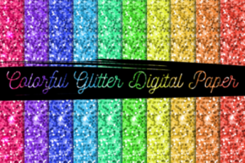 I used this free digital paper to make free printable glitter letters